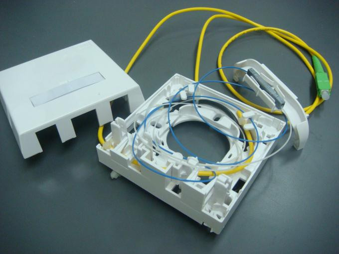 Fiber Optic Termination Wall Socket Single Family Unit For RJ45 And SC 86Type Mounting Box