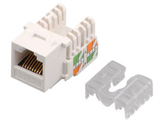 China Home Network Cat6 RJ45 keystone jack IDC CE 8P8C Golden Pin modular jack YH7003 supplier