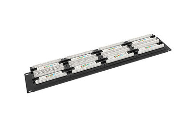 China Cat6 UTP Network Patch Panel 48port 2U AMP Ethernet Patch Panels 0.4 - 0.7mm Conductor YH4016 supplier
