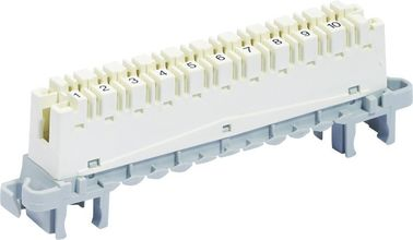 China High Band Strip CAT5E Krone Module 10 Pair Terminal Block Back / Profile Mount YH6468506100 supplier