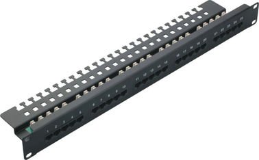 China Cat3 25 Port Voice Patch Panel / Fiber Patch Panel Krone 110 IDC T568A/B YH4001 supplier