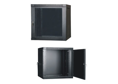 China Wall Mounted Network Server Cabinet With Toughened Glass Front Door and Rear Door YH2004 supplier