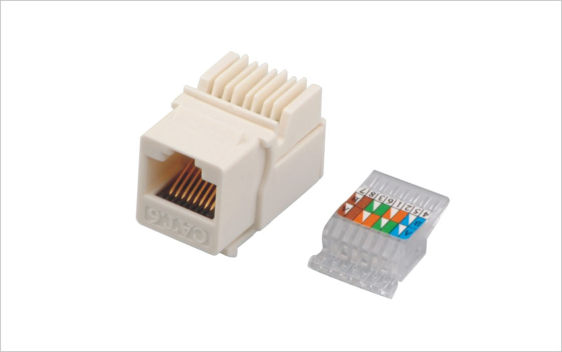 Durable Cat6 Toolless Rj45 Network Keystone Jack With Color Coded Wiring Schema Snap Yh7007
