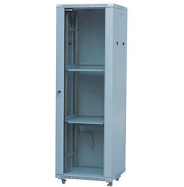 China Glass Door Server Rack Cabinet 100mm Depth Cold Rolled Steel With Powder Coat Finishing YH2002 distributor