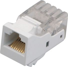 China White Color Surface Mount Outlets Cat 6 RJ45 110 Network Keystone Jack YH7008 distributor