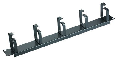 1U Rack Network Cable Management Bar Horizontal Cable Organizer Easy Uninstall YH4032