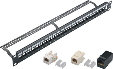 24 Port Blank Keystone Network Patch Panel with Cable Manager Wall Mount YH4018
