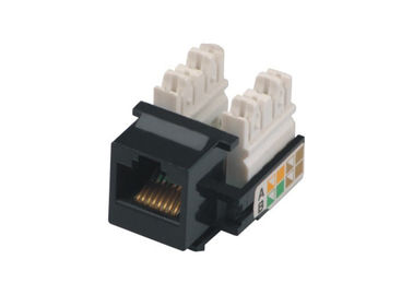 China Black Surface RJ45 8P8C Socket Cat5e Network Keystone Jack for Blank Lan Patch Panel YH7010 distributor