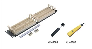 China Etherne Fiber Optic Patch Panel / 110 Patch Panel for 110 Blocking Cross Connect System YH4022 distributor