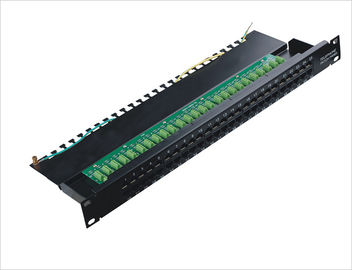 China 1000 Mohms Cat.3 Data and Voice 50 Port Network Patch Panel Rackmount TIA/EIA-568-A YH4003 distributor